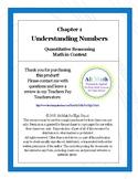 Unit 1 Understanding Numbers (High-school Quantitative Reasoning)