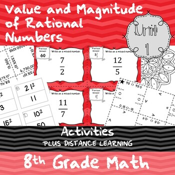 Unit 1 - Value and Magnitude of Real Numbers - Activities - 8th Grade Math TEKS