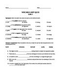 Unit 1 Vocab Quiz