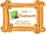 2nd Grade McGraw Hill Open Court Vocabulary Words Unit 1