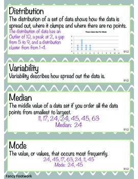 Unit 1 Vocabulary Cards for Everyday Math 4 Sixth Grade