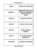 Unit 1 Vocabulary Cards for Reading Street Grade 4