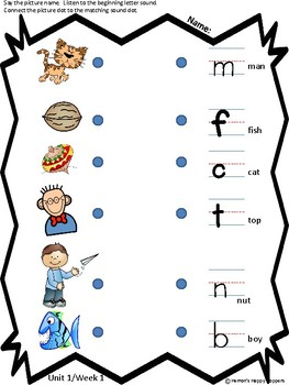 Unit 1 - Weeks 1, 2, and 3 Fun On the Way Word Work Tasks