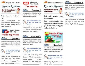 Unit 1 Week 1-Reader's Response (2nd Grade Wonders)