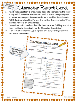 3rd Grade National Geographic Reach for Reading (Unit 1 Week 1 Supplement)