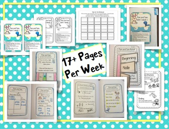 CA Treasures • Pam and Sam • Interactive Notebook • Unit 1 Week 1