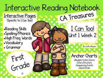 CA Treasures • I Can Too • Interactive Notebook • Unit 1 Week 2