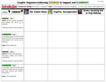 Unit 1-Week 2 Graphic Organizers (4th Grade McGraw-Hill Wonders)