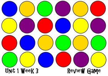 Unit 1 Week 3 The Big Blue Ox! Smart Notebook Review Game.