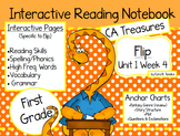 CA Treasures • Flip • Interactive Notebook • Unit 1 Week 4