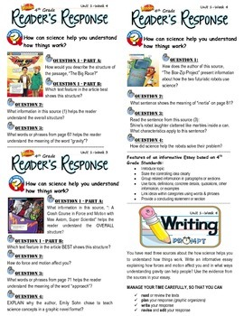 Unit 1 Week 4-Reader's Response (4th Grade McGraw-Hill Wonders)