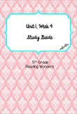 Unit 1 Week 4 Study Guide- Reading Wonders