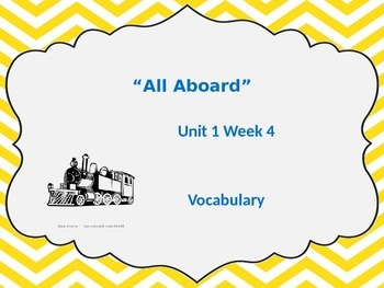 Unit 1 Week 4 Vocabulary