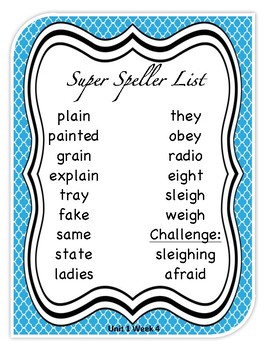 Unit 1 Week 4 Wonder's Beyond Level Spelling List and Word Search