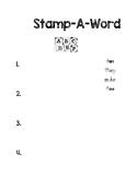 Unit 1 Week 4 Wonders Stamp-A-Sight-Word