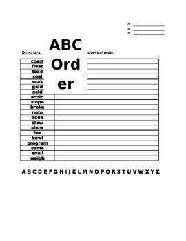 Unit 1 Week 5 ABC order