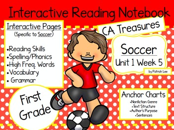 CA Treasures • Soccer • Interactive Notebook • Unit 1 Week 5