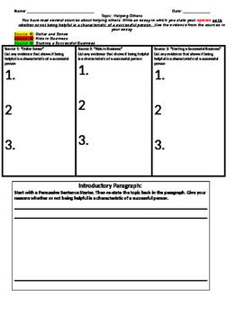 Unit 1 Week 5 Opinion Essay G/O: Putting Ideas to Work
