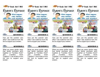 Unit 1 Week 5-Reader's Response (2nd Grade Wonders)