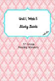 Unit 1 Week 5 Study Guide- Reading Wonders