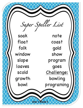 Unit 1 Week 5 Wonder's Beyond Level Spelling List and Word Search