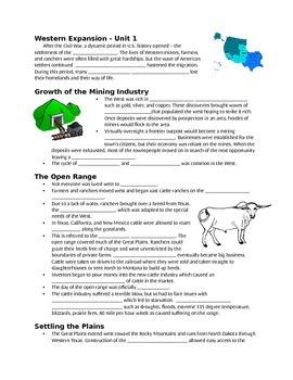 Westward Expansion Notes - Unit 1