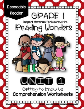 Unit 1 Wonders Decodable Reader Worksheets for 1st Grade