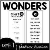 Unit 1 Wonders Phonics Practice Booklet