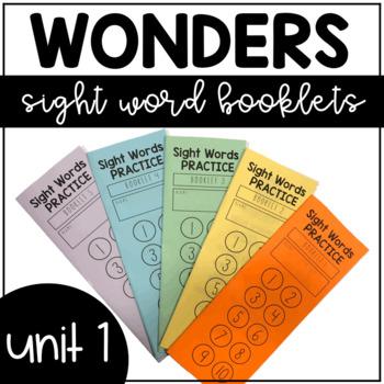 Unit 1 Wonders Sight Words Booklet