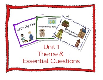 Unit 1 Wonders Themes and Essential Question Posters