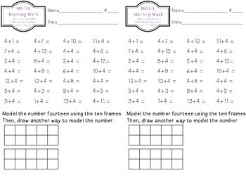 Unit 1: Word Problems Using Addition and Subtraction Strategies to and from 20