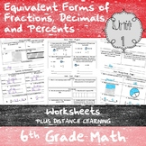 Equivalency & Percents Worksheets - (6th Grade Math TEKS 6.4E-G and 6.5B-C)