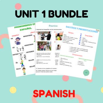 Unit 1 spanish bundle