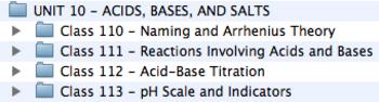 Unit 10 - Acids, Bases, and Salts