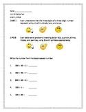 2nd Grade - Unit 10 Everyday Math - Practice Test