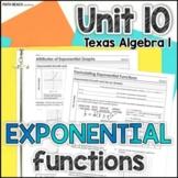 Unit 10: Exponential Functions - Texas Algebra 1 Curriculum