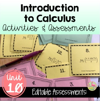 PreCalculus: Intro To Calculus Review & Assessment Bundle