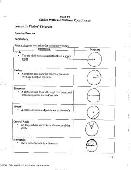 Unit 10 Notes Answer Key