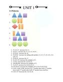 Unit 1.0 Patterns and Number Sense ANSWER KEY
