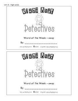 Unit 10: Sight Word Detectives - away, help, went, with