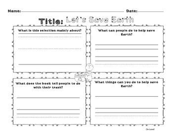 Unit 10 Week 3 Kindergarten McGraw Hill Wonders Guided Reading Supplemental Pack