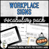 Unit 10 Workplace Signs - Vocabulary Pack
