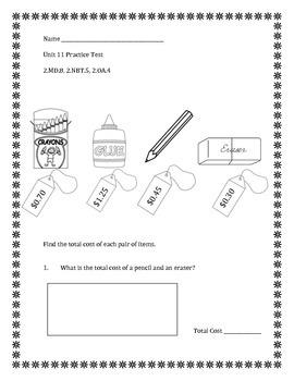 Unit 11 Everyday Math - 2nd Grade - Practice Test