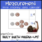 Unit 11 Measurement Time Calendar Data - Gr. 1 Paperless Warm-Up Lessons