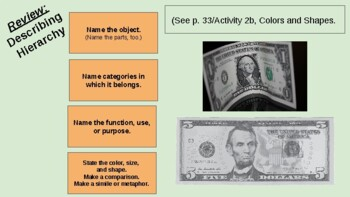 Unit 11 MONEY -Visual Supplement/Lesson Cycle, The Colors and Shapes of Language