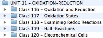 Unit 11 - Oxidation-Reduction