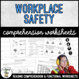 Unit 11 Workplace Safety - Reading Comprehension & Functional Worksheets