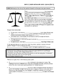 Unit 12.1 - Adult and Juvenile Justice System (SS8CG4)