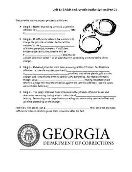 Unit 12.2 - Adult and Juvenile Justice System (SS8CG5)