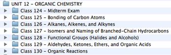 Unit 12 - Organic Chemistry